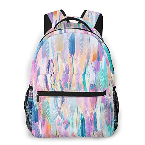 Boys Girls Casual Backpack,Adult Travel Rucksack,Lightweight College Book Bags,Men Women Daypack,Laptop Bags,Colorful Pattern