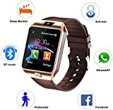 Faawn Smart Watch Bluetooth Phone Call smartwatches with Sim and Bluetooth Call Fitness Tracker Smart Watches for Men, Women, Boys and Girls (smartwatches) - Brown