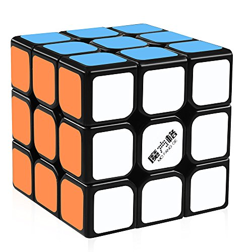 D-FantiX Qiyi Thunderclap 3x3 Speed Cube Smooth Magic Cube Puzzle 56mm (Black)