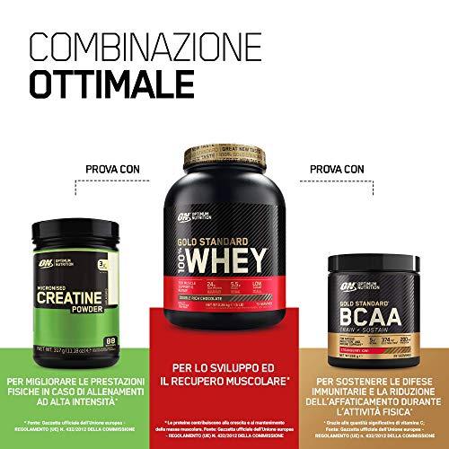 Optimum Nutrition Gold Standard 100% Whey Proteine in Polvere con Proteine Isolate ed Aminoacidi per la Massa Muscolare, Cioccolato al Latte, 28 Porzioni, 0.9 kg, il Packaging Potrebbe Variare