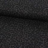 SCHÖNER LEBEN. Viskosejersey Jersey Punto di Roma Leopard