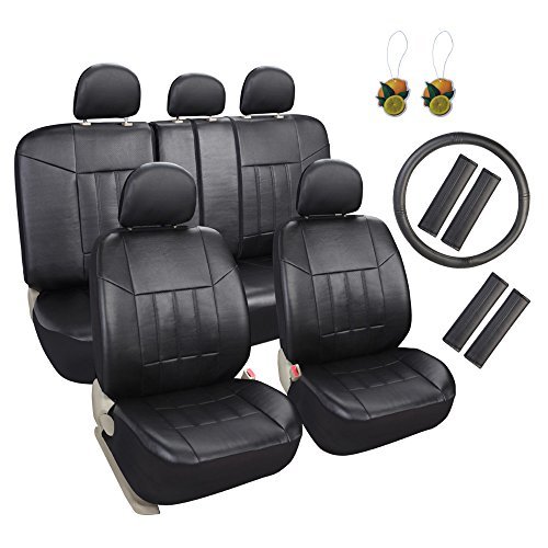 Full Set Fiat Doblo Luxury Padded Leather Look Car Seat Covers