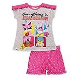 レゴ ムービー2 ザ・セカンドパート 2ピース ガールズ 半袖Tシャツ ショートパンツ パジャマセット US サイズ: 4-5 カラー: ピンク