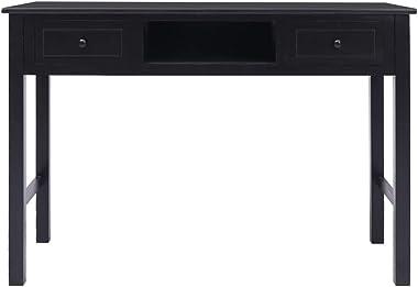 FAMIROSA Bureau Noir 110 x 45 x 76 cm Bois