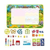 XFHA 魔法の水の描画マットドローイングペンスタンプは、子供のための委員会教育玩具を絵画に設定します ペイントに適したツール (Color : Type F 110x70cm)
