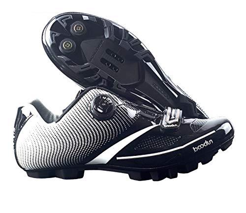 Dubao racefietsschoenen, automatische racefietsslot, reflecterende veiligheidsschoenen voor op de weg, nylonmateriaal, ademend