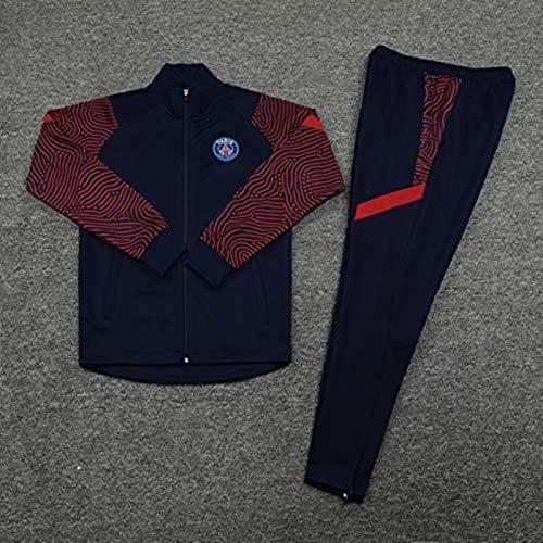 YDoo DZHTSWD 20-21 Competition Suit Men's Top + Pants Jersey Football Training Suit Adult Jacket Sportswear Suit Paris Saint-Germain F.C. Official Gift,Size:XXL (CH : X-Large)