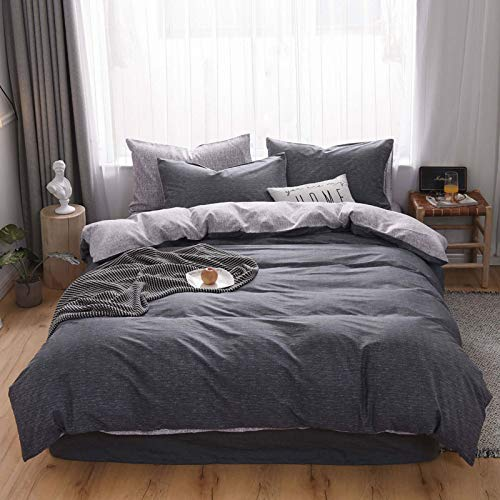 GYHJG 4Pcs Bedding Cotton Four-Piece Cotton Washed Cotton Four-Piece Soft And Comfortable Double Bed Four-Piece Cotton