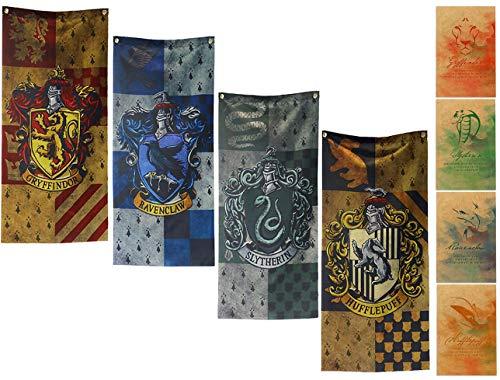 yuzhouzun Geburtstag Party Geschenke Hogwarts Banner Dekoration Harry Potter Poster Harry Potter Flagge Harry Potter Merchandise