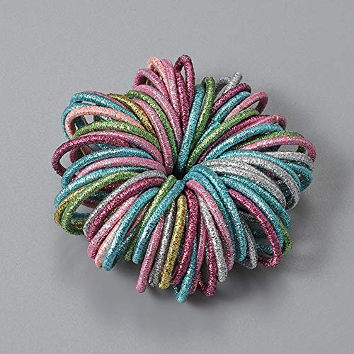 SELLM 100pcs/lot Hair bands Girl Candy Color Elastic Rubber Band Hair band Headband Scrunchie Hair Accessories for hair,style-9