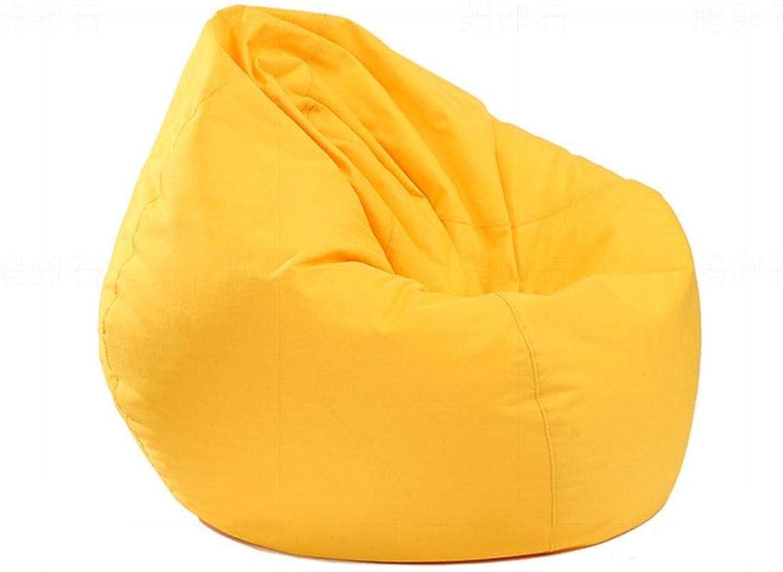 AINIYF Sofa Sack - Plush, Ultra Soft Bean Bag Chair - Memory Foam Bean Bag Chair 35.4x39.5inches (color   Yellow)