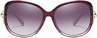 Fashion Black/Purple/Brown/Red Female Models Driving Sunglasses Fashion New PC Material Polarized Sunglasses Retro (Color : Purple)