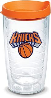 Tervis NBA New York Knicks Primary Logo Tumbler with Emblem and Orange Lid 16oz, Clear