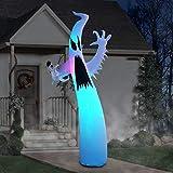 PARAYOYO 9Ft Halloween Aufblasbarer Schrecklicher Geist, Aufblasbare Gartendekorationen mit LED-Leuchten für Party Home Rasen Garten Indoor Outdoor
