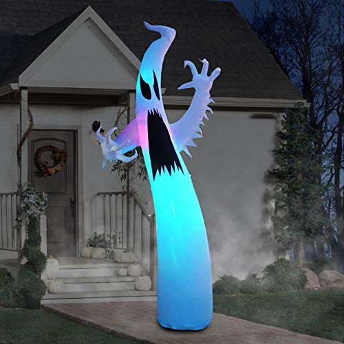 12 Ft Inflatable Halloween Terrible Ghost Lanterns Indoor and Outdoor Decoration