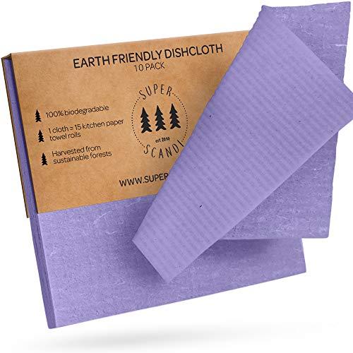 SUPERSCANDI - Paños Reutilizables para vajillas, de Esponja
