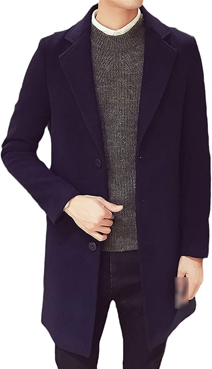 Men Fashion Jackets Plain Trench Coat - Collection