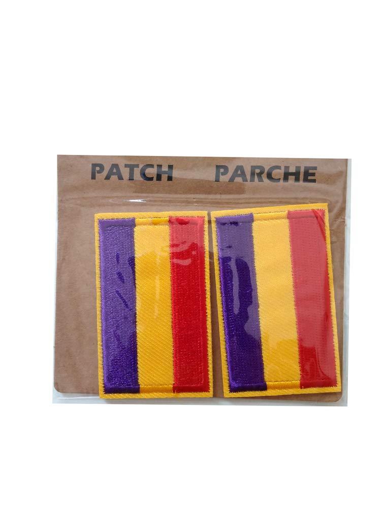 Parche 2 unidades Parches Termoadhesivo Bandera Republicana Sin ...