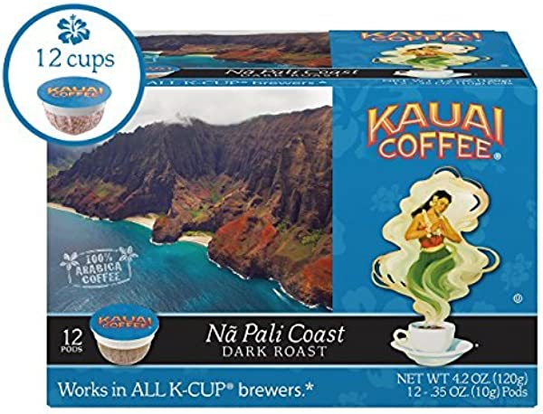 Kauai Coffee Single Serve Pods Na Pali Coast Dark Roast 100 Premium Arabica Coffee From Hawaii S Largest Coffee Grower Keurig Compatible Cups 12 Count
