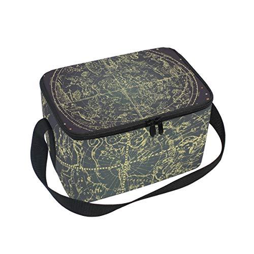 Lunchtasche Sternzeichen Sternbild der Nördlichen Sterne Kühler für Picknick Schultergurt Lunchbox