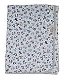 Ti-Tin - Arrullo para Bebe fabricado en Rizo de Algodón Suave | Color Azul con estampado de MOTOS | Materiales de una gran suavidad y calidez