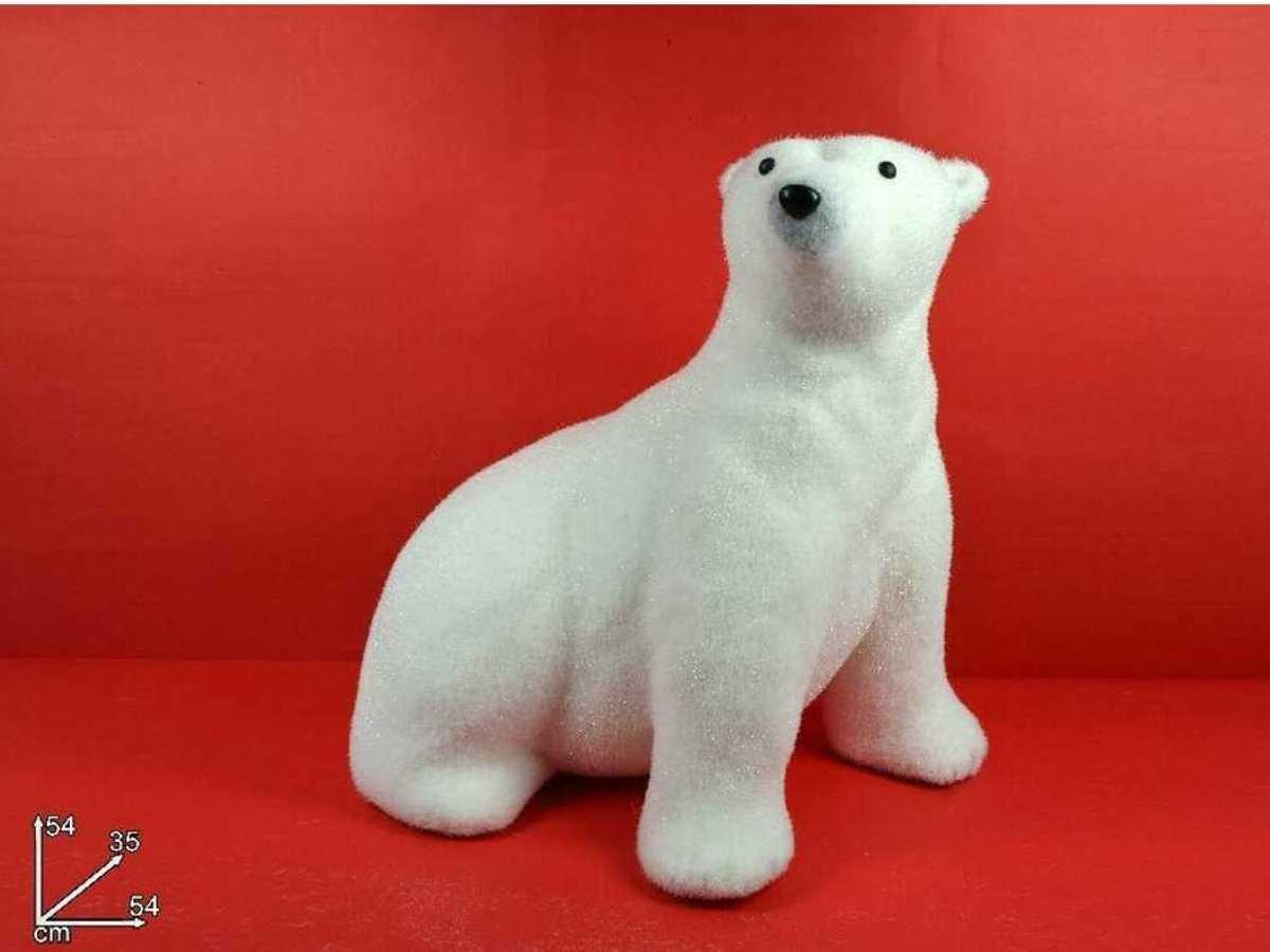 Oso blanco decoración navideña (polietileno, Polo Norte Papá Noel ...