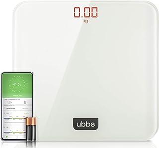 Ubbe Báscula Digital Inteligente de Peso Corporal de Vidrio Templado Resistente con aplicación para Smartphone (IOS y Andr...