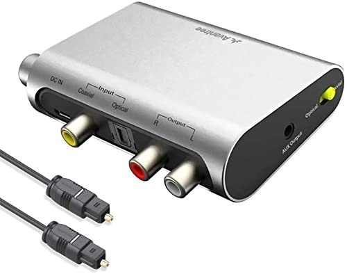 Avantree DAC02 192KHz Digital to Analog Audio Converter with Toslink Optical Cable, Volume Control, SPDIF Coaxial to ...