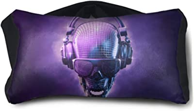 ENEVOTX Support Neck Pillow Disco Ball Skull D Illustration of Skull Shaped Unisex Multi-Purpose Travel Pillow for Girls One-Size-fits-All for Family Airplanes Office Trip