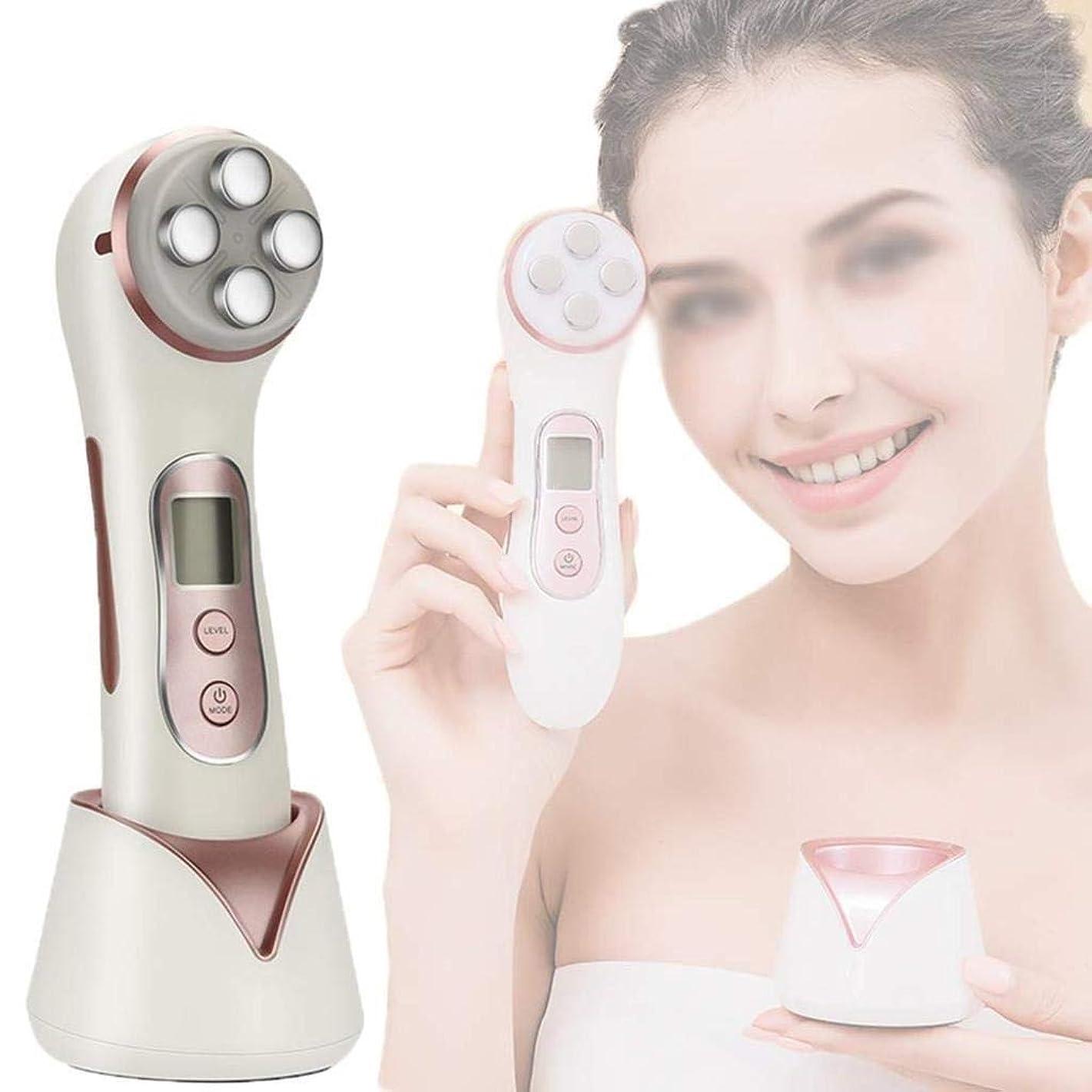 決定親会話型皮のきつく締まる機械、1つのRF EMS LEDライト療法のしわに付き顔の持ち上がるボディ形削り盤機械6つは反老化のアクネの美装置を取除きます