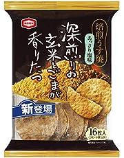 亀田製菓 焙煎うす焼 あっさり塩味 16枚×12袋