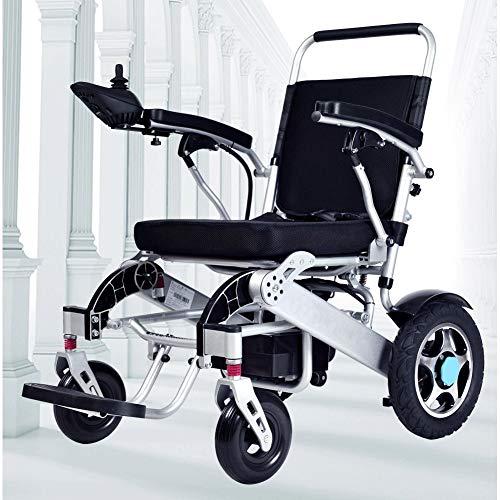 ZZUU Elektro-Rollstuhl, leicht, elektrisch, zusammenklappbar Lithiumbatterie 20A mit Steckachsensystem Reiserollstuhl Transportrollstuhl,12A