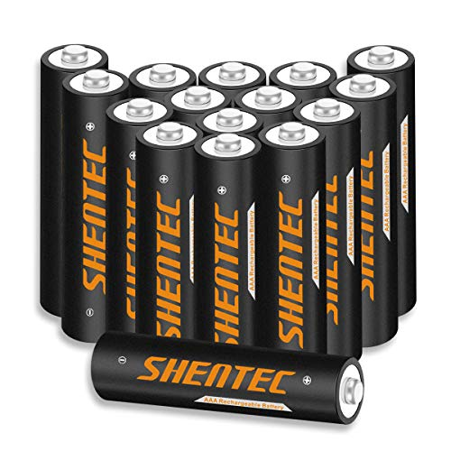 16 Stück Shentec AAA Akku Wiederaufladbare Batterien 1.2V 1000mAh Ni-MH Alltagsbatterie AAA Akku Mit Aufbewahrungsbox