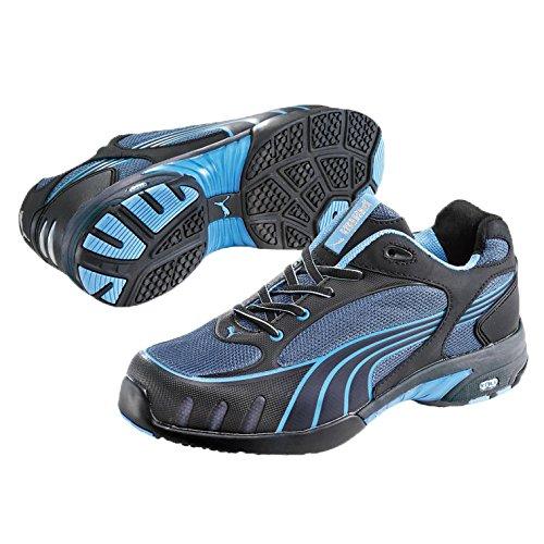 Puma Safety Shoes Damen Fuse Motion Blue Wns Low S1 HRO, Puma Sicherheitsschuhe, Schwarz (schwarz/blau 256), 35 EU