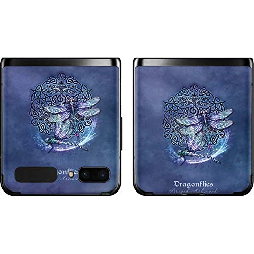 Skinit Decal Phone Skin Compatible with Samsung Galaxy Z Flip - Tate and Co. Dragonfly Celtic Knot Design