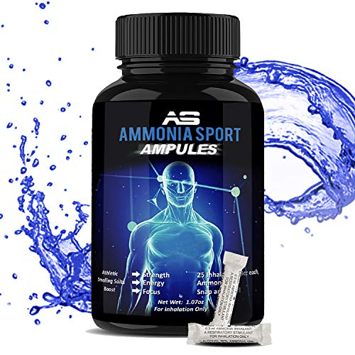 AmmoniaSport Athletic Smelling Salts - Ampules (25) Ammonia Inhalant