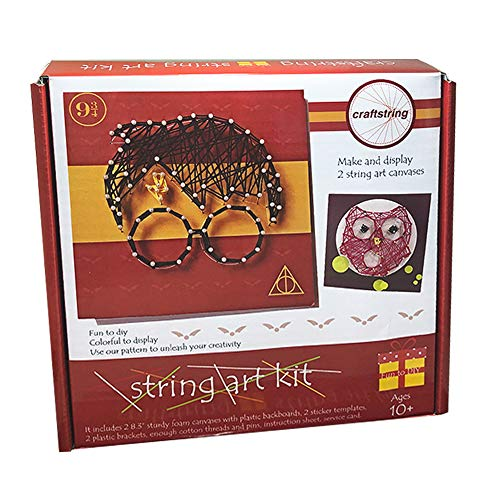 craftstring String Art Kit for Kids and Adults, All-in-One, DIY 2 Large String Art Canvases-Harry Potter and Owl Edition