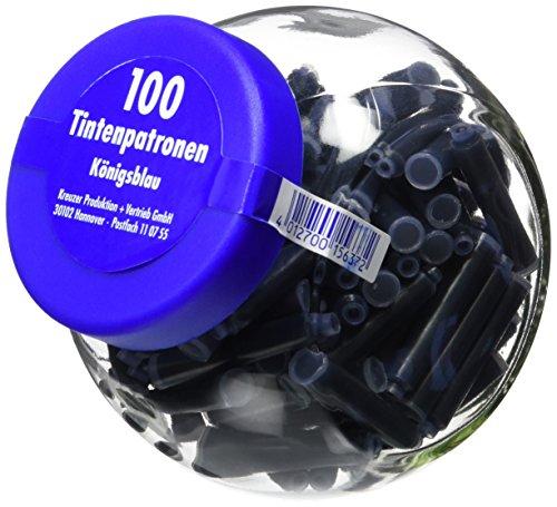 Compatible con plumas Pelikan y otras Con tinta azul Set de 100 unidades Tinta lavable de la mayoría de textiles