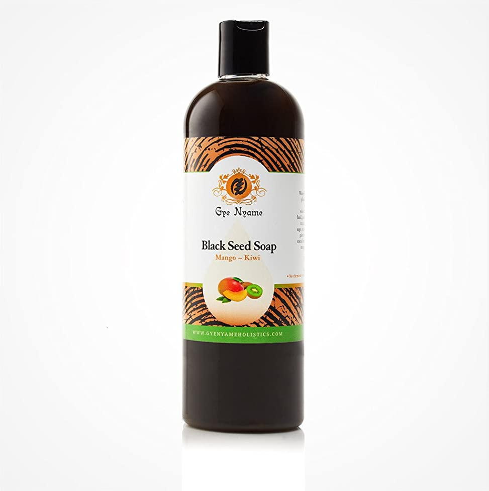 Gye Nyame Black Seed Liquid Soap Mango~Kiwi