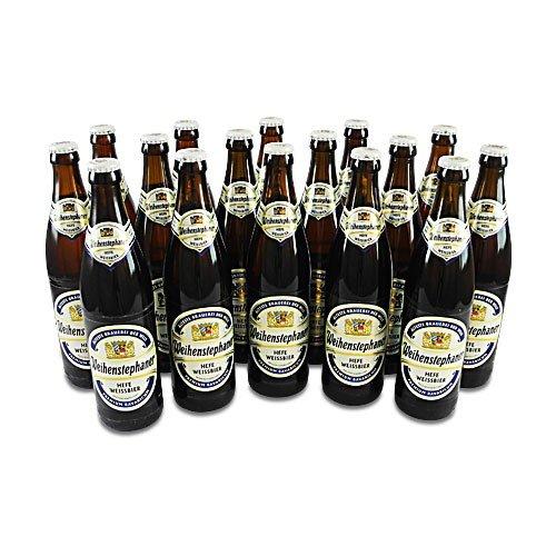 Weihenstephaner Hefeweissbier Hell (16 Flaschen à 0,5 l / 5,4% vol.)