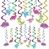 Girls Dinosaur Party Hanging Swirl - 20 PCS Dino Birthday Party...