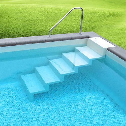 SAXONICA Pool Treppe Eleganz 60 Leiter Randbefestigung lang Sand