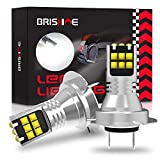 BRISHINE H7 LED Fog Light Bulbs 6000K Xenon White, Extremely Bright 3030 Chips 64210 LED Bulbs with Projector for Car Fog Lights, Daytime Running Lights DRL(Pack of 2)