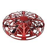 iSpchen Drones Manuales Para Niños, Aviones de Inducción de Ovnis Platillo Volante de Inducción Para Niños Mini drone Bola de Juguete Indicador Led drone Control Manual Carga Usb drone de Juguete