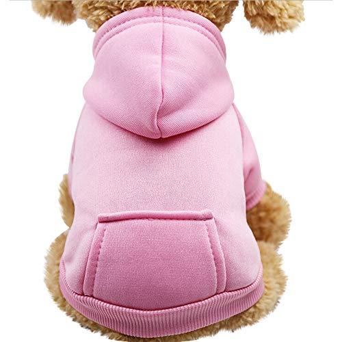 Yowablo Hund Pullover, Hundepullover, Haustier Sweater, Sweatshirt, Hunde Pullover, Kleidung, Hundebekleidung, Hundepullover, Baumwolle Sweatshirt für Welpen große Hunde (XL,1- Rosa)