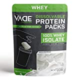 Vade Nutrition Dissolvable Protein Packs   Vanilla Whey Isolate Protein Powder, On-The-Go, Low Carb, Low Calorie, Lactose Free, Gluten Free, Fat Free, Sugar Free, Lean, Great Tasting, 30 Servings