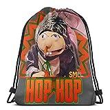 JIALIA Sml Jeffy Hops Sport Bag Gym Sack Drawstring Backpack