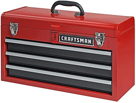 Craftsman 3-Drawer Metal Portable Chest Toolbox Red: image