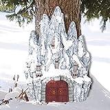 AGDLLYD Feenhaus für Den Garten,Elfenhaus Gartendeko,Feenhaus Miniatur,Fairy Garden House,Fairy Garden Feengarten,Fairy Garden Miniatures,für Feengärten & außen Elfenhaus