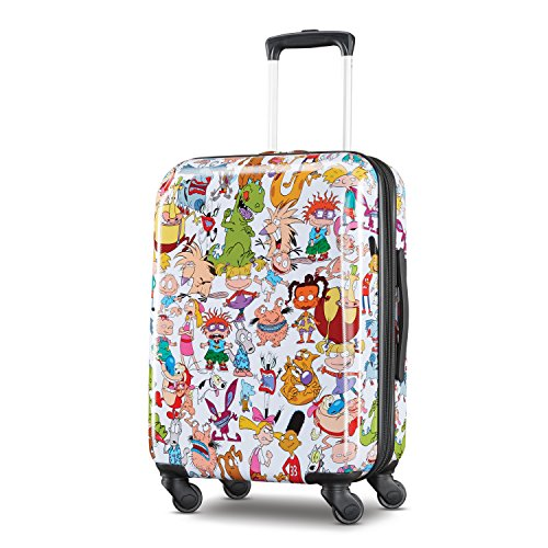American Tourister Kids' Carry-on, White/Orange